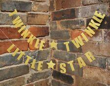 Twinkle Twinkle Little Star Gold Banner Garland Theme Gender Reveal