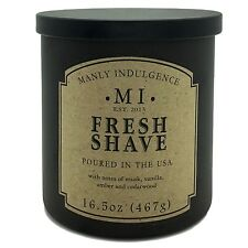 Manly Indulgence Fresh Shave Candle Notes of musk, vanilla, amber and cedarwood