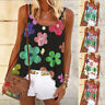 Womens Loose Ladies Floral Vest Casual Pullover Blouse Cami Shirt Holiday Tops