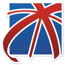"Great Britain England Flag car bumper sticker window decal 4"" x 4"""