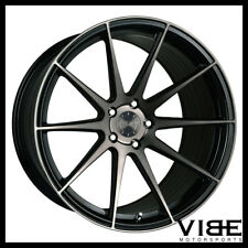 "22"" VERTINI RF1.3 BLACK FORGED CONCAVE WHEELS RIMS FITS BMW F01 740 750 760"