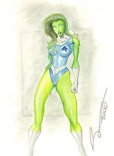 She-Hulk in Fantastic Four Costume Color Commission - art by Unknown Artist