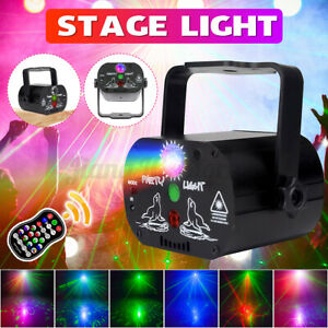 6/8 Holes Laser Stage LED Projector Light DJ Disco Club Party Lamp Wedding Decor
