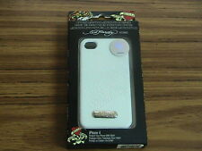 iPhone 4, 4S   Ed Hardy Tiger Tattoo Snap On Cover Case  white color