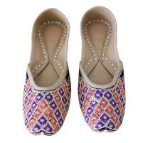 Mojari Ethnic Women Shoes Indian Flip-Flops Handmade Leather Ballerinas US 7