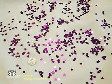 Wedding Table Scatters Foil Confettii Hearts Purple 5mm BUY 1 GET 1 FREE