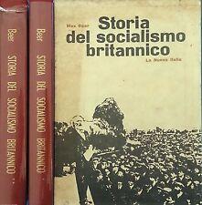 MAX BEER STORIA DEL SOCIALISMO BRITANNICO LA NUOVA ITALIA 1964 2 VOLUMI INTONSI