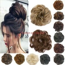 Synthetic Curly Hair Extension Hairpiece Bun Updo Scrunchie Pony Tail As Human