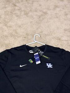 XL Black Kentucky Wildcats Nike Dri-Fit Lightweight Crew Top Sweatshirt NWT $75