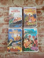 Lot of 4 The Land Before Time I - II - III - IV VHS Cassette Tapes MCA Universal