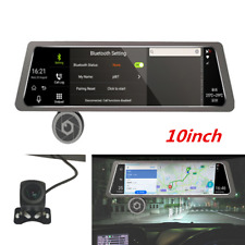 4G WiFi Dual Lens 10'' Vehicle Rearview Mirror Camera Recorder Car DVR Dash Cam