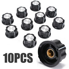 10pcs Top Rotary Control Turning Knob for Hole 6mm Dia. Shaft Potentiometer Tool