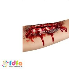 ZOMBIE LATEX OPEN WOUND MUTILATION SCAR BLOOD GORE halloween fancy dress make up