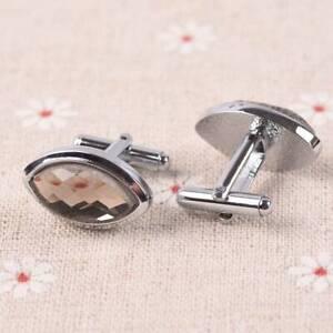 1 Pairs Enamel Rhinestones Stainless Steel Men's Silver Cufflinks lot Styles