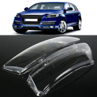 Pair Clear Headlight Lens Right & Left Lampshade Covers For Audi A6 C6 2006-2011