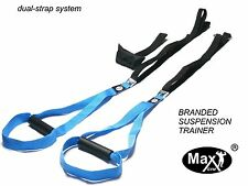 Oryginal Suspension MaxGym® trainer. Body Trainer. Duo Straps. Home Fitness blue