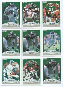 PHILADELPHIA EAGLES x 20 Fleer 1990 NFL American Football Trading Cards