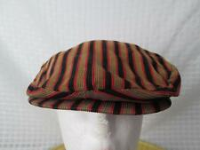 Vintage Penney's Newsboy Driving Hat Flat Cap Cabbie Hat Striped Thin Wale 7 3/8