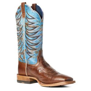Ariat Men's Firecatcher Well Brown & Blue Lake Boots 10035952
