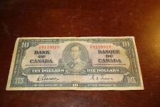 1937 - Canada $10 bank note - Canadian ten dollar bill - CD8139918