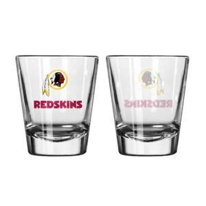 Washington Redskins Satin Etch Shot Glass 2 Pack [NEW] NFL Drink Liquor Shooter