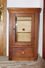 Vintage Wooden Medicine Wall Cabinet Apothecary Chest Cupboard