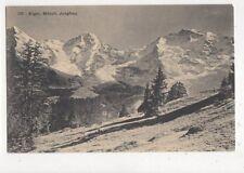 Eiger Moench Jungfrau Switzerland Vintage Postcard 388a