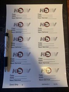 Hsv Pen & Service Decals Holden Commodore VR VS VT VX VY VZ VE VF SS