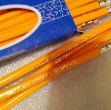 Detroit Public Schools 6 boxes Gold Imprint Pencils #2 1/2 gross 72 sealed USA