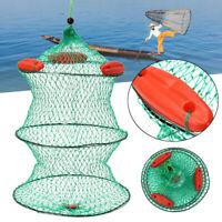 Nylon 3 Floats Floding Fishing Net Crab Fish Minnow Crawfish Shrimp Net