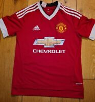 MANCHESTER UNITED 2015-16 ADIDAS  HOME FOOTBALL SHIRT SIZE 13-14 YRS
