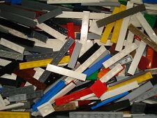 Lego x100 Smooth Base Plates/Strips Bricks Mixed Colours/Sizes!