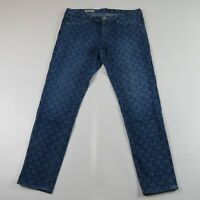 AG ADRIANO GOLDSCHMIED the Legging Super Skinny Ankle Printed Jeans Size 30 R