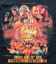 ROH Best in the World 2015 T-Shirt 3XL AJ Styles Jay Briscoe Lethal Young Bucks