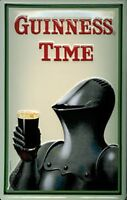 Guinness Knight In Armour embossed steel sign 300mm x 200mm