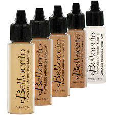 Belloccio TAN Airbrush Makeup FOUNDATION SET Skin Shade Tone Face Cosmetic Kit