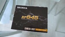 Bronica RF645 Instruction Book, Hard to find