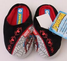Marvel Comics Amazing Spider-Man Toddler Boys Black/Grey Slippers Size 6 NWT