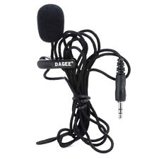 Mini Wired 3.5mm Universal Jack Nylon Collar Clip Microphone for PC Phone