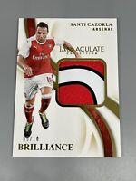 Santi Cazorla 2020 Panini Immaculate ⚽️ /10 Gold Brilliance Relic Arsenal 🇪🇸
