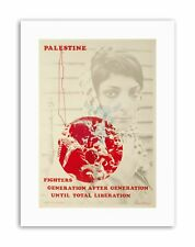 Derechos civiles Palestina Israel liberación nuevo Póster Foto Lienzo político