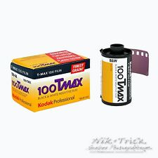Kodak TMAX 100 35mm B/N FILM ~ 36 EXP ~ piu 'freschi UK STOCK