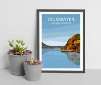 Ullswater Art Print, The Lake District National Park Landscape, Cumbria, Hiking