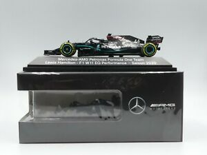 Minichamps 1:43 Lewis Hamilton Mercedes W11 F1 2020 NEW black Mercedes box