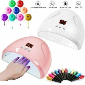 LED UV New Nail Polish Dryer Lamp Gel Acrylic Curing Light Professional Spa Tool