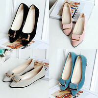 Women's Fashion Casual Flat Slip-on Shoes Metal Decor Pointed Toe Shoes Optimal