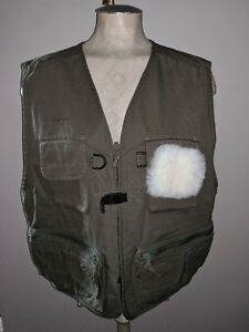 NWT LL BEAN FLY FISHING HUNTING VEST CANVAS KELP GREEN MENS  CROPPED SHORT L