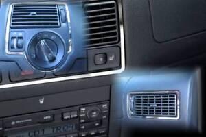 D VW Golf 4 Chrom Rahmen für Lüftungsschacht - 3 Rahmen - Edelstahl poliert