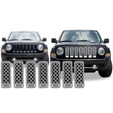 FREE SHIPPING: 2011-2016 Jeep Patriot Chrome Grille Overlay #110