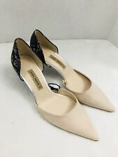 Zara Womens Size Euro 39 US 8 Contrasting D'orsay Mid Heel Shoes Pointy Toe